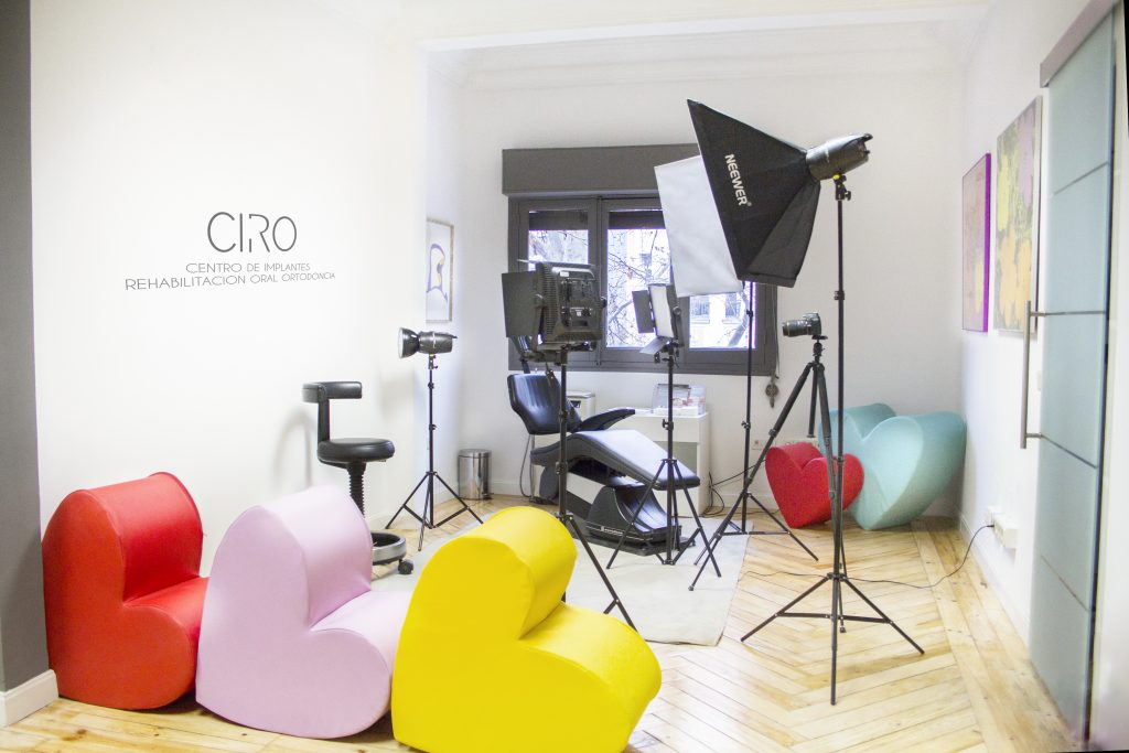 Estudio fotográfico Clínica dental CIRO Madrid
