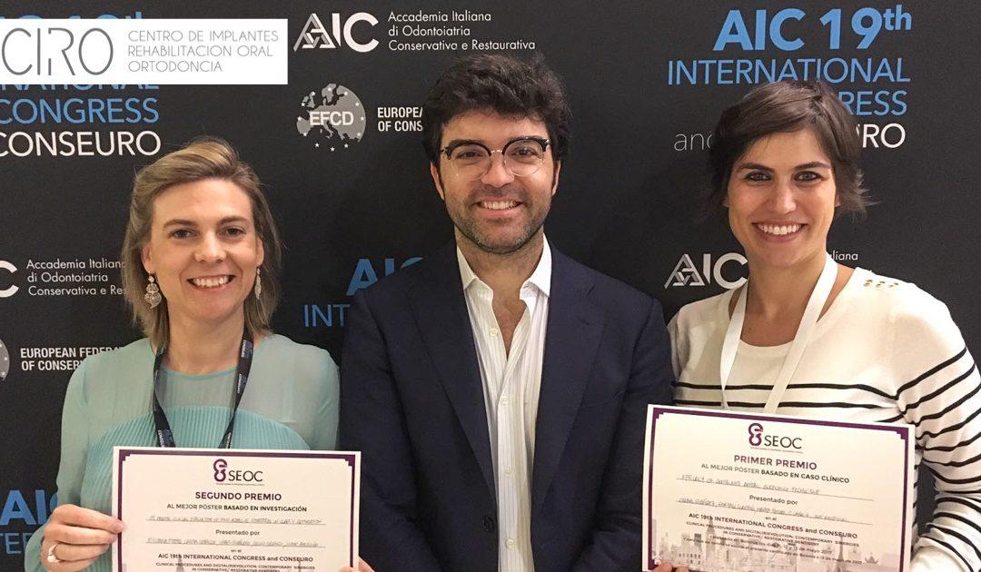Las Dras. Ceballos y Giráldez han sido galardonadas en el AIC 19th, en Bolonia