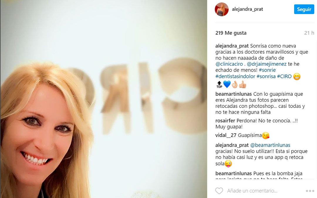 Alejandra Prat habla de nosotros en Instagram
