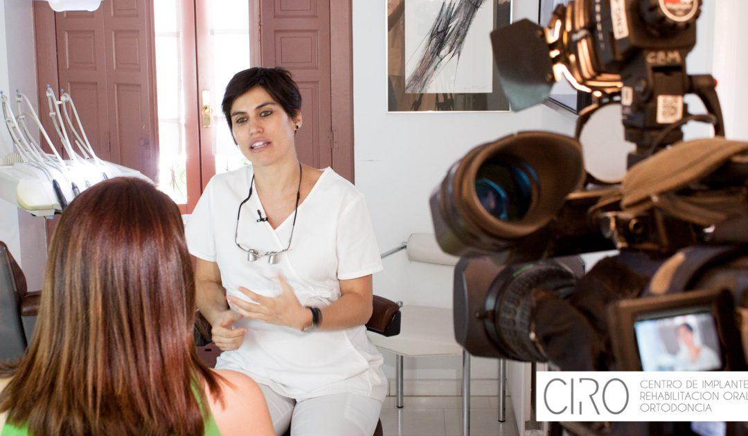 Hoy Antena 3 ha venido a grabar a CIRO para publicarlo en el telediario nacional