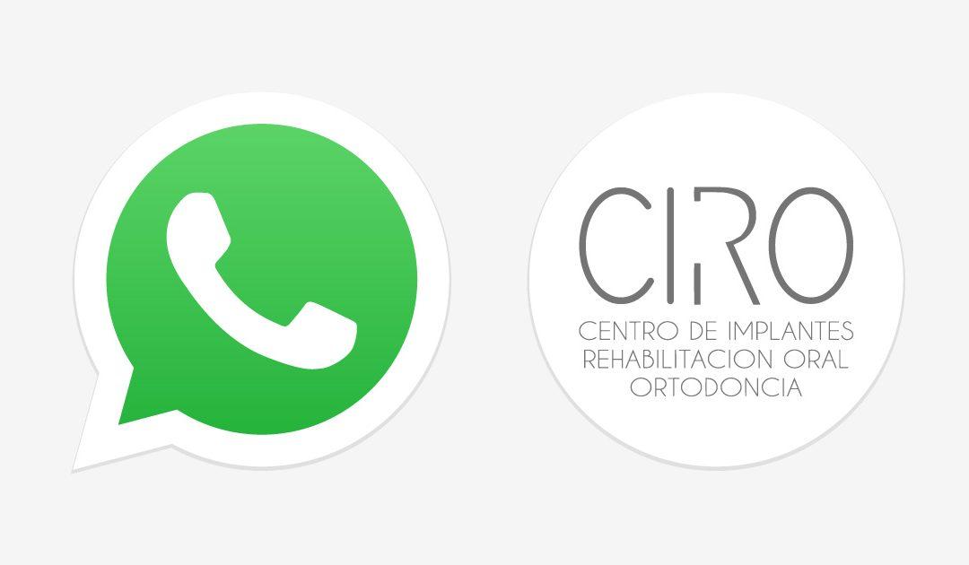 Pedir cita por WhatsApp con la Clínica CIRO ya es posible
