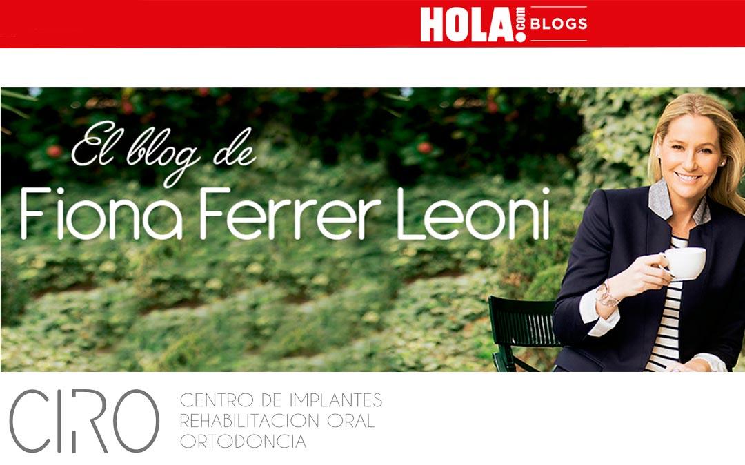 Aparición en el Blog de Fiona Ferrer en HOLA