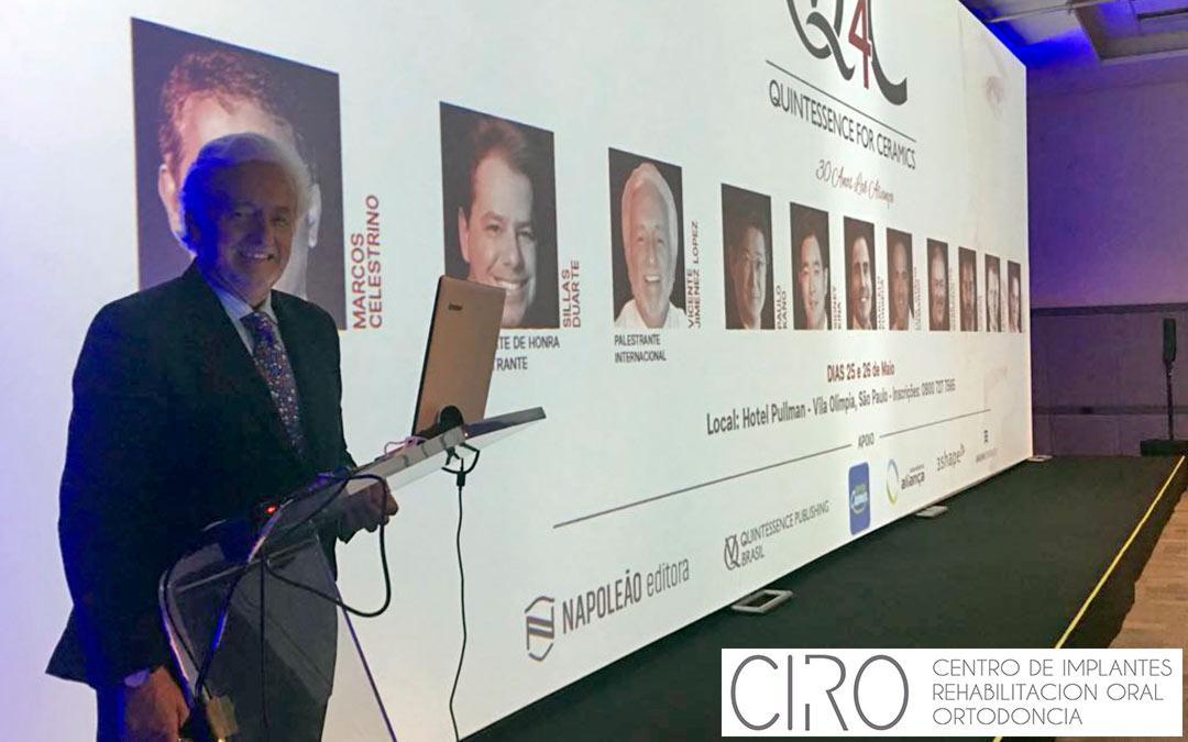 Éxito en la intervención del Dr. Vicente Jiménez en el congreso Quintessence en Brasil