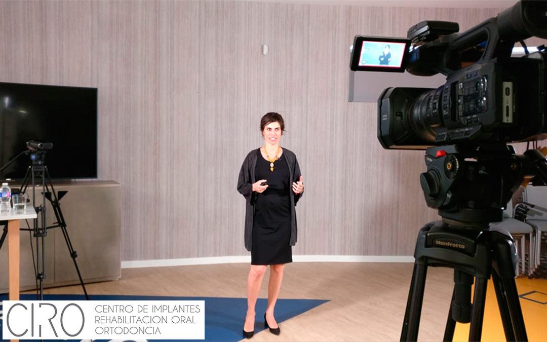 La Dra. Isabel Giráldez graba unos vídeos de formación para 3M Health Care Academy