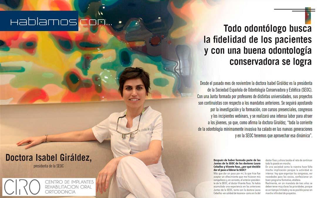 Entrevista a la Dra. Giráldez en la Revista Maxillaris