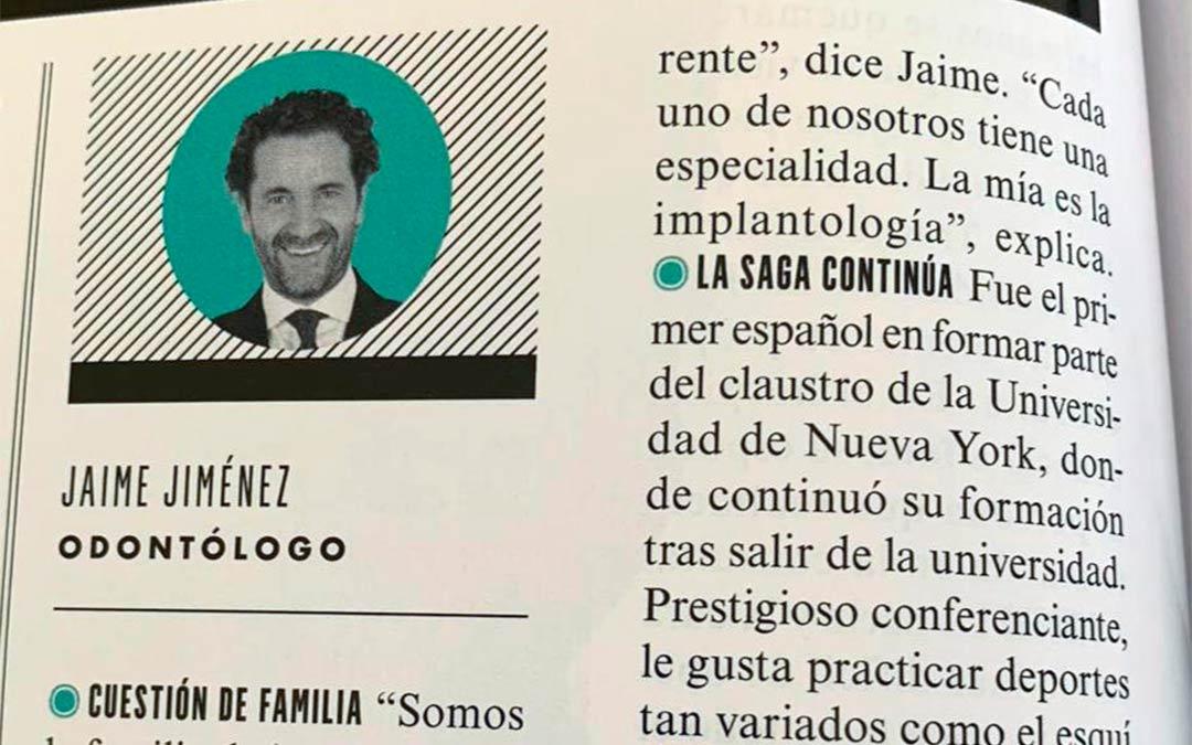 Aparición del Dr. Jaime Jiménez en Vanity Fair