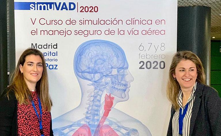 La Dra. Sara Alonso y la Dra. Raquel Casas imparten el «V Curso de simulación clínica en el manejo seguro de la vía aérea»